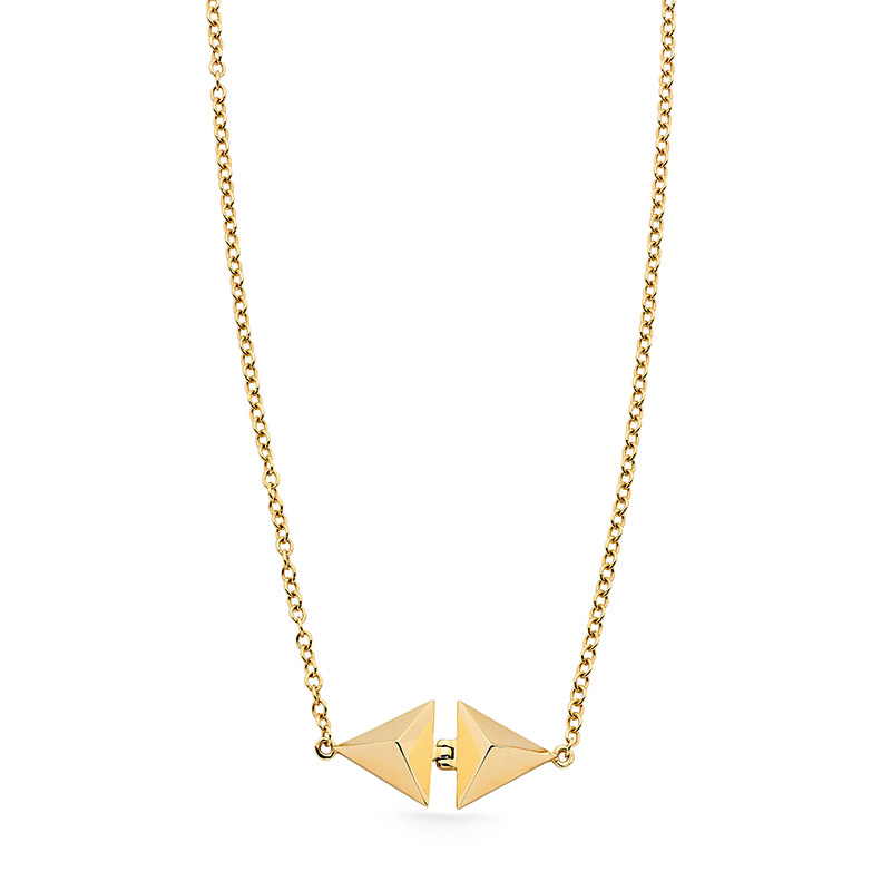 Classic Illuminating Faceted 9ct Gold Necklace